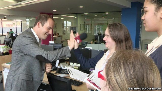 Martin Lewis and Bullers Wood School Reporters