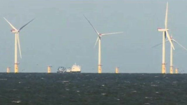Gwynt y Mor wind farm in Liverpool Bay
