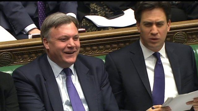 Ed Balls and Ed Miliband at PMQs