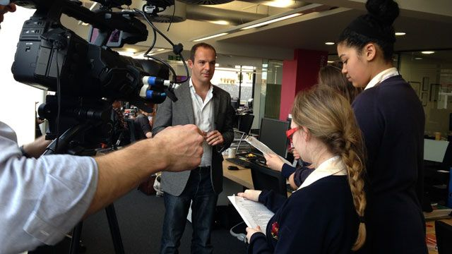 Martin Lewis talks BBC School Reporters