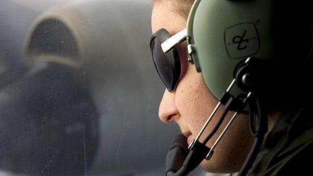 RNZAF officer on board a P-3K2 Orion