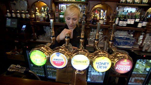 Westminster pub scene