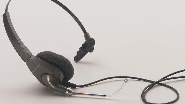 A telesales headset