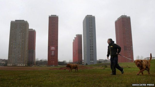 Red Road apartment blocks in Glasgow