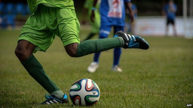Player takes part in Street Child World Cup