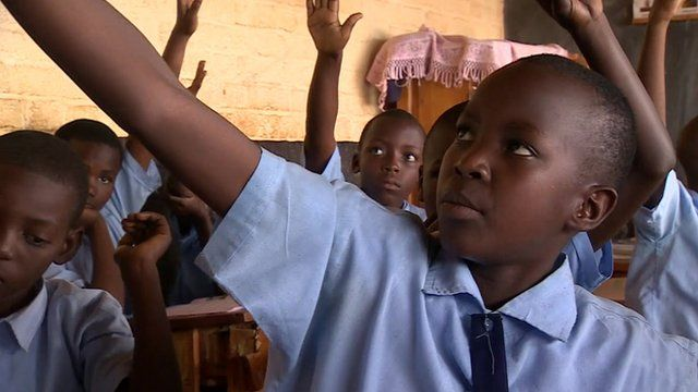 Children in a school in Rwanda