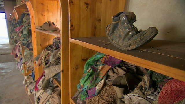 Clothes of victims of Rwanda genocide