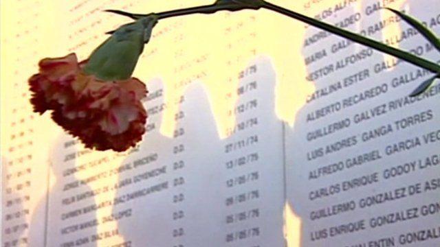 Memorial showing names of missing