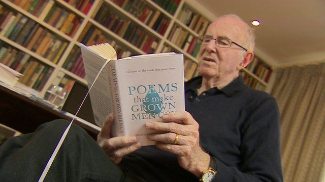 Clive James with book of poetry