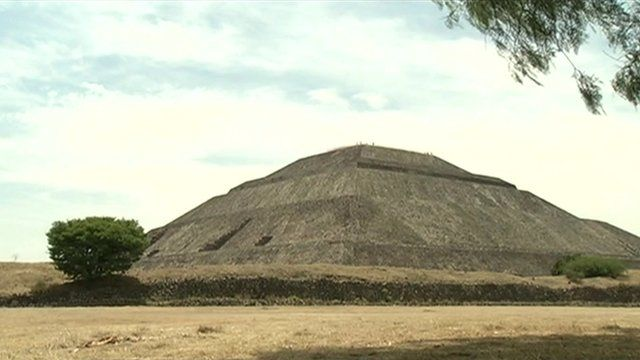 The Pyramid of the Sun in Mexico