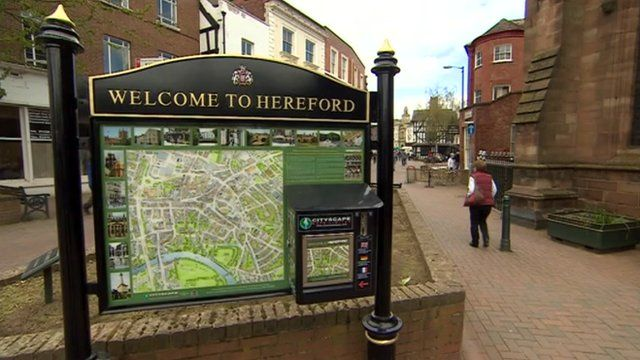 Welcome to Hereford sign