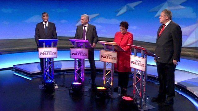 EU debate candidates