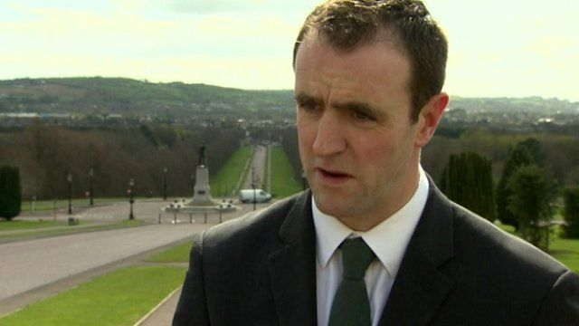 Mark H Durkan said parties may put posters up before or after the race
