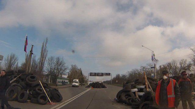 Ukraine roadblock