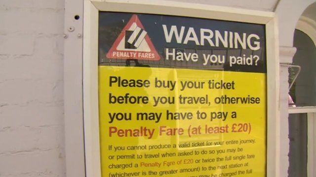 Penalty fare warning