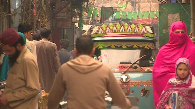 Street life in Pakistan-administered Kashmir