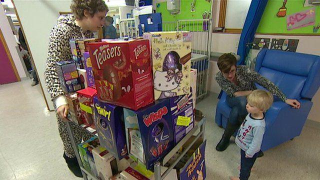 Derriford Hospital Easter egg delivery
