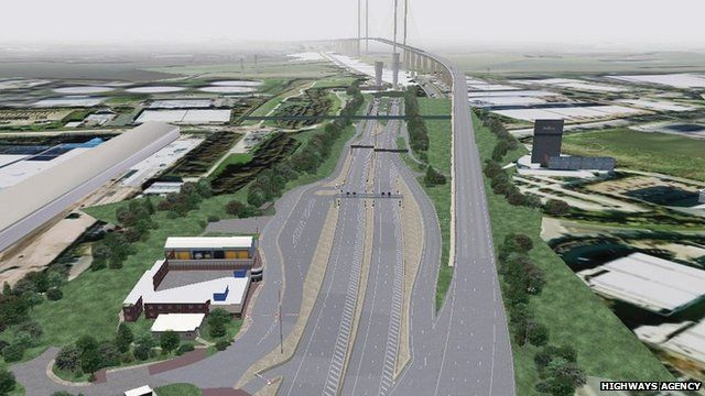 Artist's impression of the Dartford Crossing