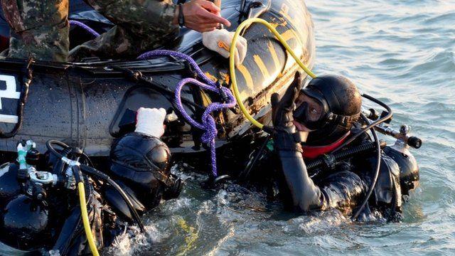 South Korea divers