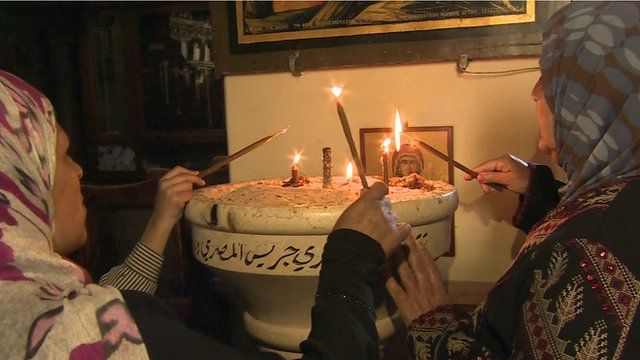 Palestinian women celebrating St George