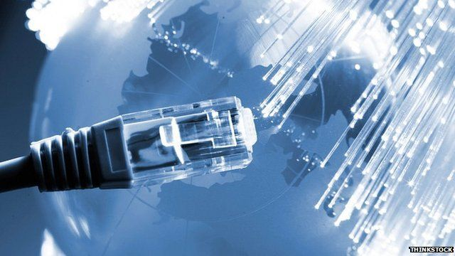 Fibre-optic broadband connection