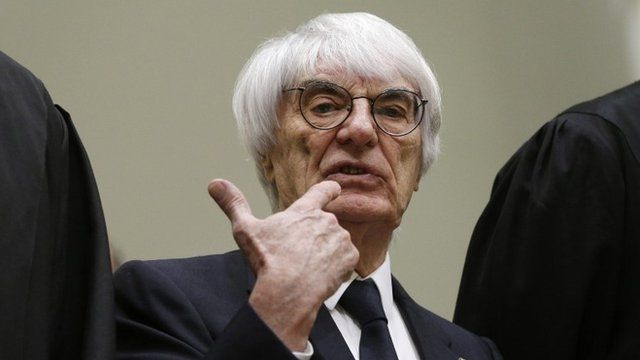 Bernie Ecclestone arrives in court