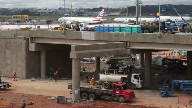 Construction work on a Brazilian airport