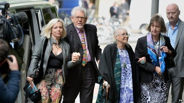Rolf Harris arrives at court