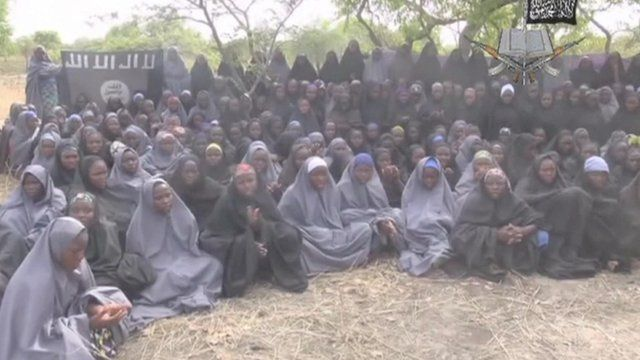 Image taken from video released by Boko Haram