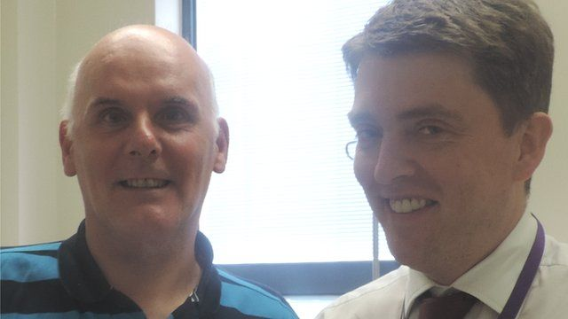 Douglas Clarke and Dr Adrian Bloor