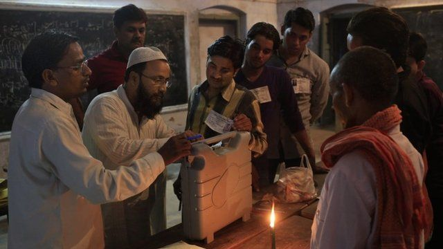 Voting machine sealed at end of Indian election