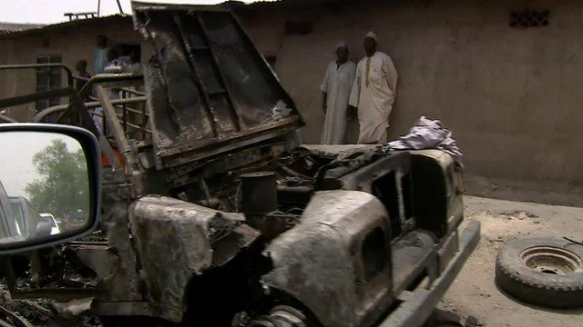 Aftermath of Boko Haram attack