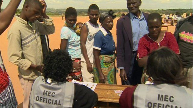 People voting in Malawi