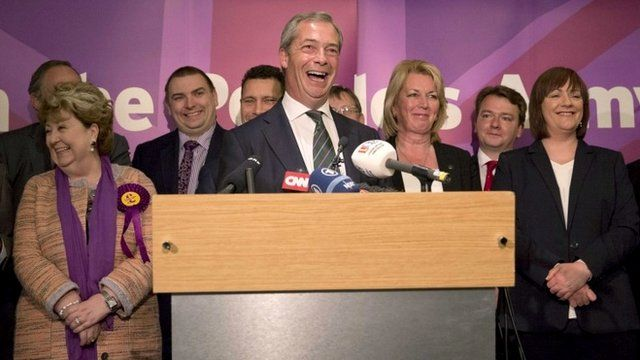 Nigel Farage gives victory speech to supporters
