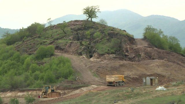 Site of gold mine at Sakdrisi hill in Georgia