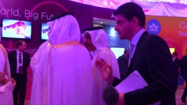 Mark Lobel and Ali Shareef Al-Emadi, Qatar's Minister of Finance