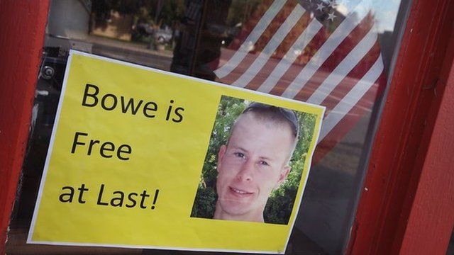 Poster announcing Bowe's release