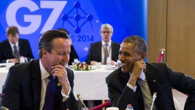 US President Barack Obama and UK Prime Minister David Cameron