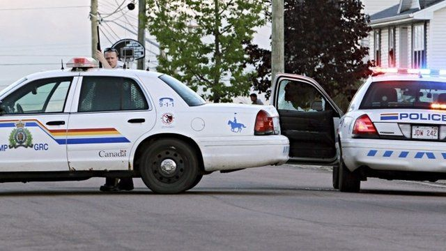 Police cars in Moncton