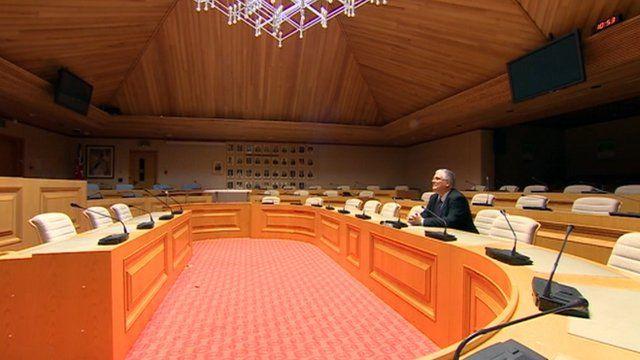 Luke Akehurst in council chamber