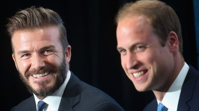 David Beckham and Duke of Cambridge