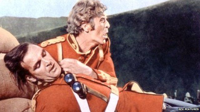 Poster image for Zulu showing Stanley Baker and Michael Caine
