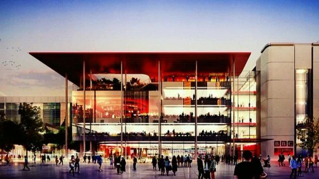 Architect's impression of the new BBC building
