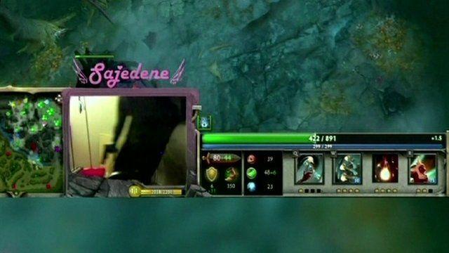 A gunman on a webcam