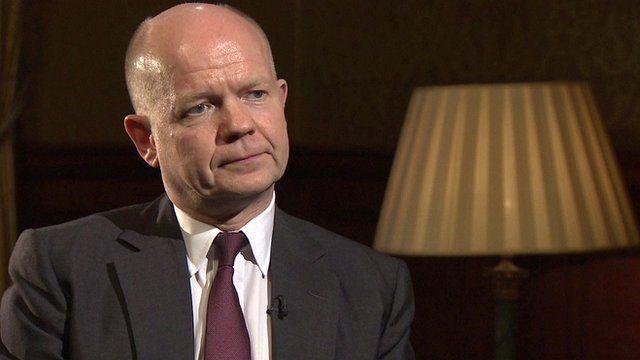 British Foreign Secretary William Hague