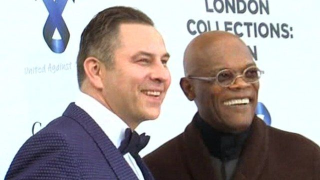 David Walliams and Samuel L Jackson