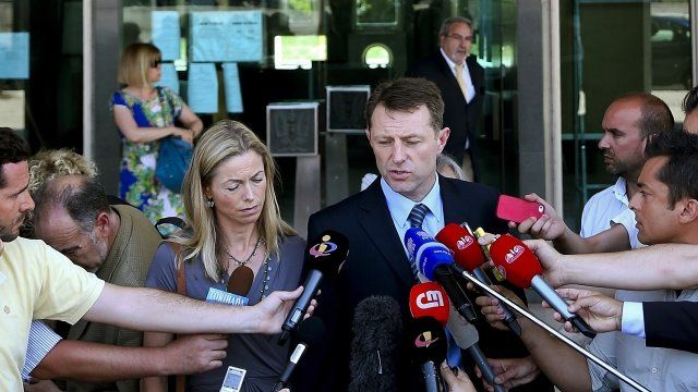 Kate and Gerry McCann in Lisbon