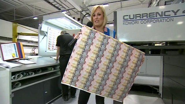 Steph McGovern reports from banknote maker De La Rue