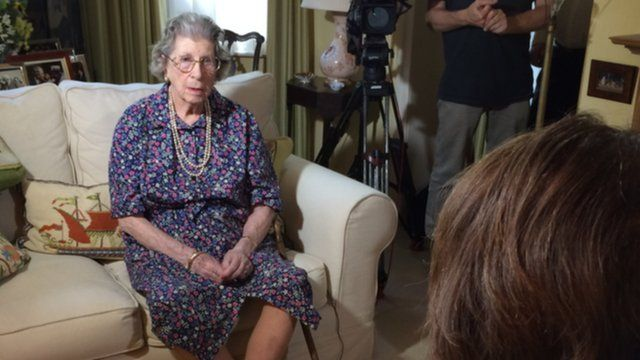 Baroness Trumpington in TV interview