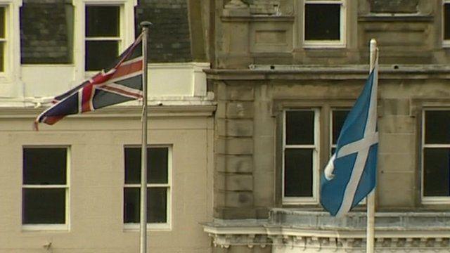 British and Scottish flags